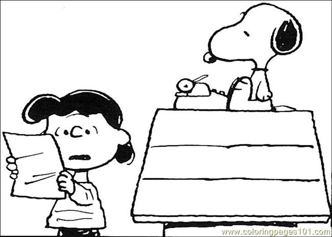 snoopy 09 coloring page