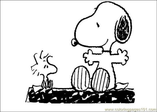 snoopy 23 coloring page