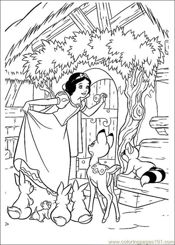 snowwhite 031 coloring page
