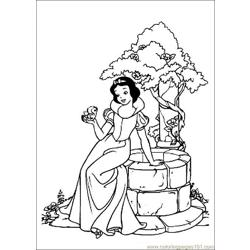 Snow White Free Coloring Page for Kids