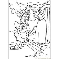 Snowwhite 08 Free Coloring Page for Kids