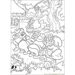Snowwhite 10 Free Coloring Page for Kids