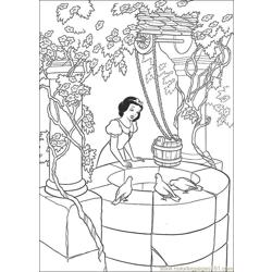 Snowwhite 12 Free Coloring Page for Kids