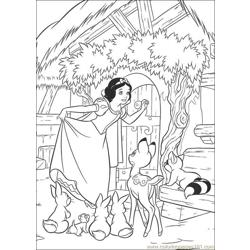 Snowwhite 13 Free Coloring Page for Kids