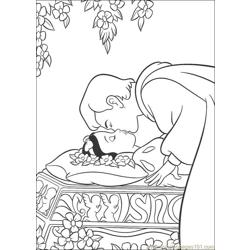 Snowwhite 17 Free Coloring Page for Kids