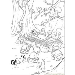 Snowwhite 18 Free Coloring Page for Kids