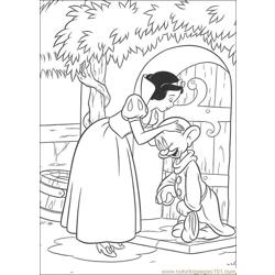 Snowwhite 20 Free Coloring Page for Kids