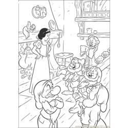 Snowwhite 21 Free Coloring Page for Kids