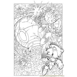 Sonic 10 Free Coloring Page for Kids