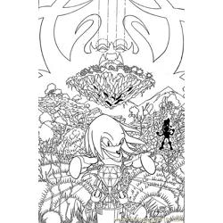 Sonic 13 Free Coloring Page for Kids
