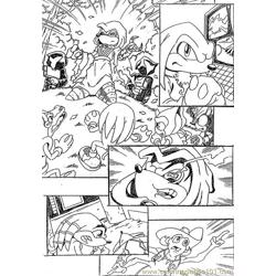 Sonic 14 Free Coloring Page for Kids