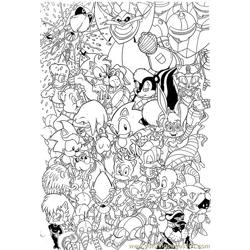 Sonic 16 Free Coloring Page for Kids