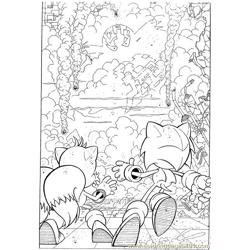 Sonic 18 Free Coloring Page for Kids