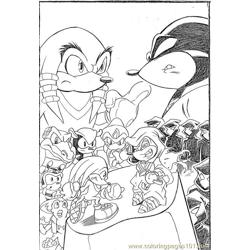 Sonic 19 Free Coloring Page for Kids