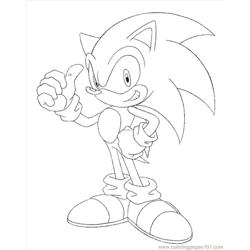 Sonic 20 Free Coloring Page for Kids