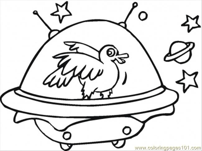 In A Space Ship Coloring Page Coloring Page