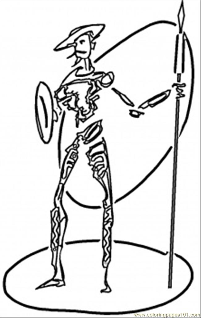 Don Quixote Coloring Page Free