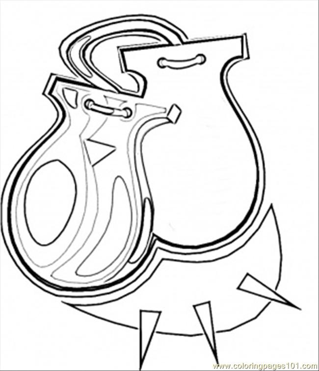 Castanets Coloring Page