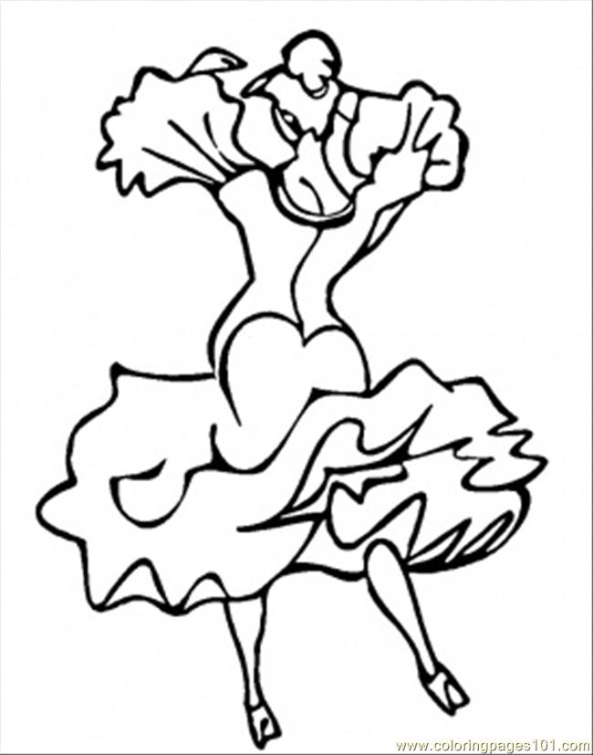 Dance Coloring Page Free Spain Coloring Pages ColoringPages101com