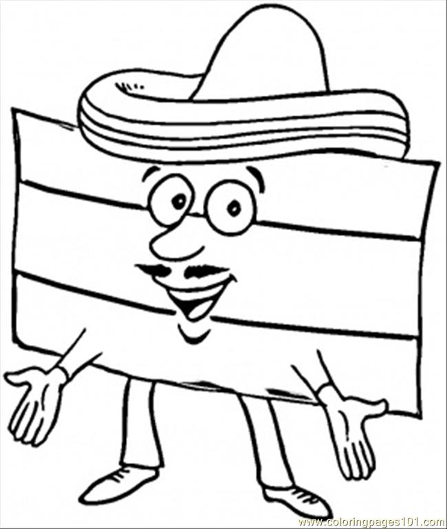 Flag Ofspain Coloring Page