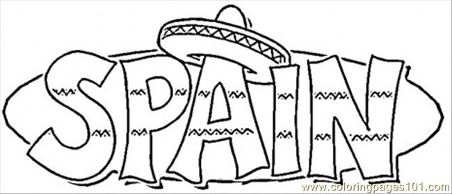 Spain Coloring Page Free Spain Coloring Pages ColoringPages101com