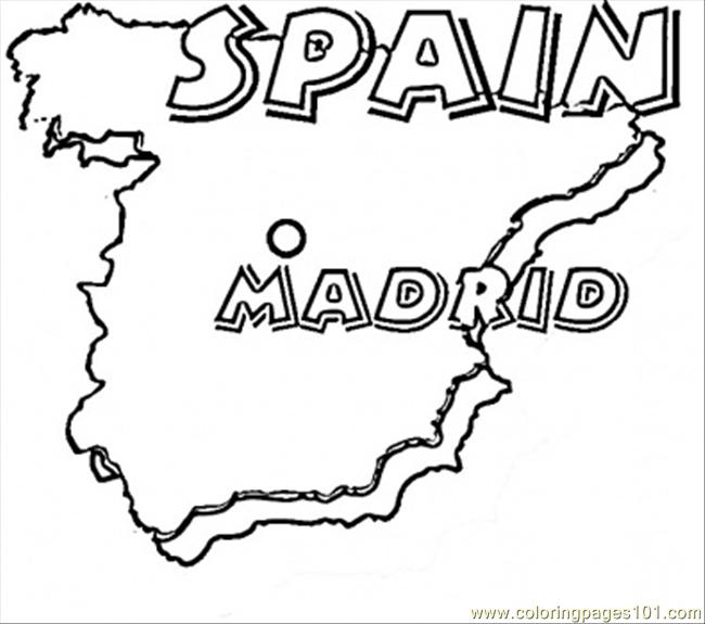 Spanish Map Coloring Page