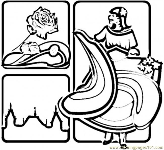 Spicy Spain Coloring Page