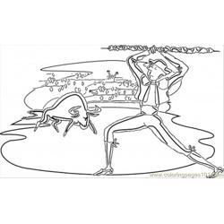 Spanish Corrida coloring page