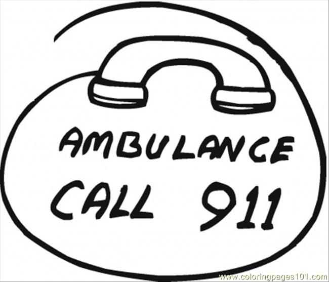 911 Coloring Page