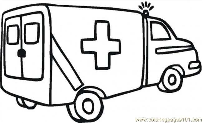 Ambulance 911 Coloring Page