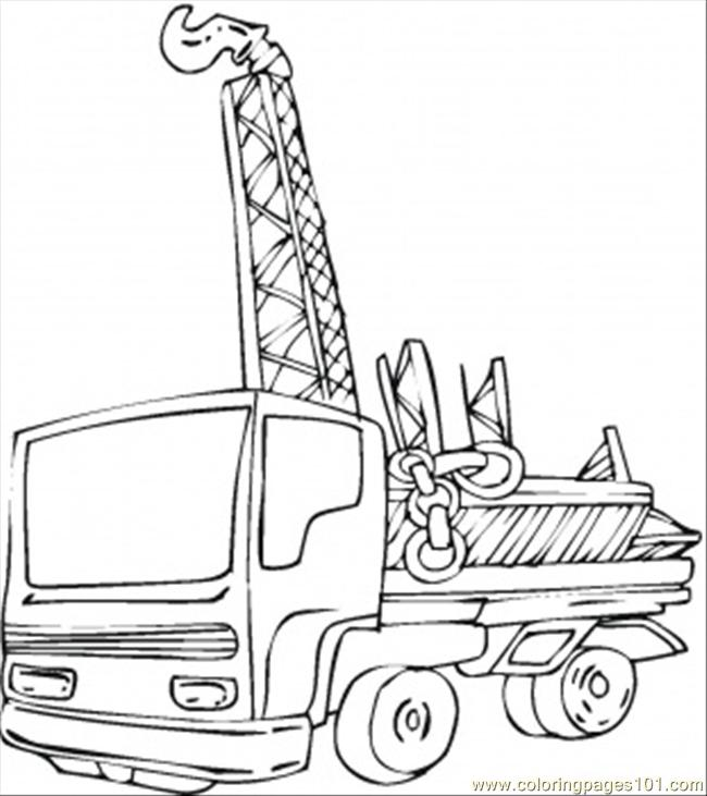 Break Down Tractor Coloring Page