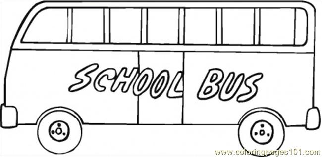 Bus For Kids Coloring Page