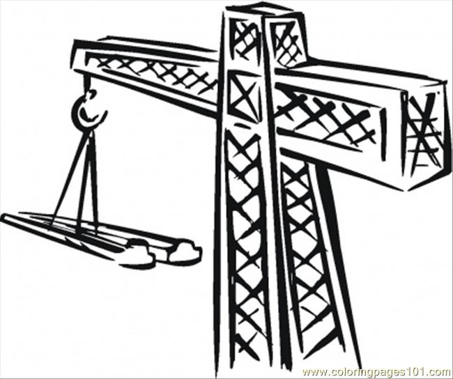 Crane For Building Coloring Page