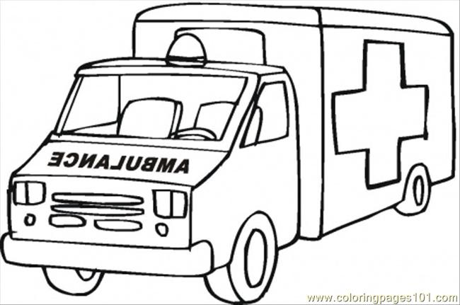 Emergency Coloring Pages Car Page Free Special Transport