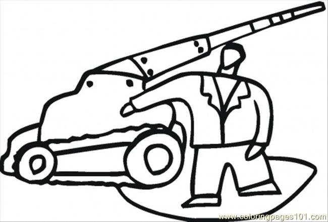 Emergency Service Vehicle Coloring Page Free Special