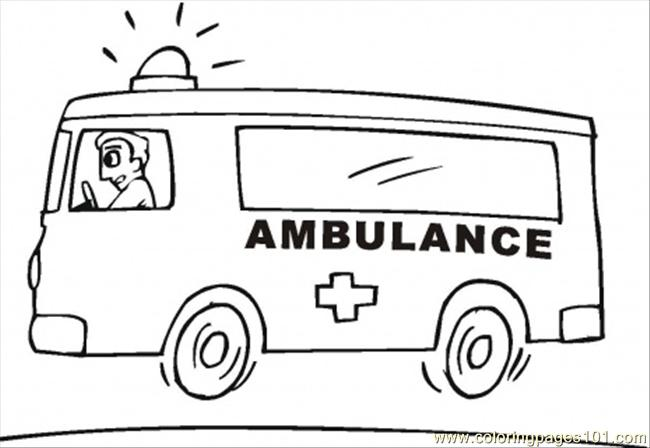 Emergency Vehicle Coloring Page Free Special Transport Coloring