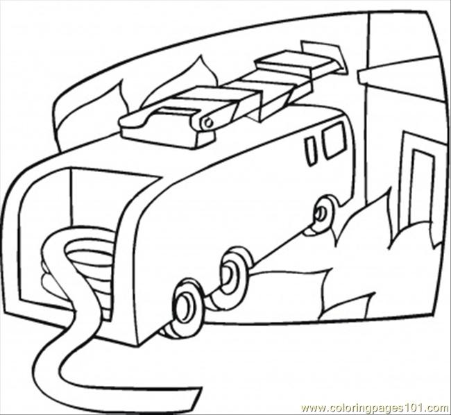 Fire Car Is Ready Coloring Page - Free Special Transport ...