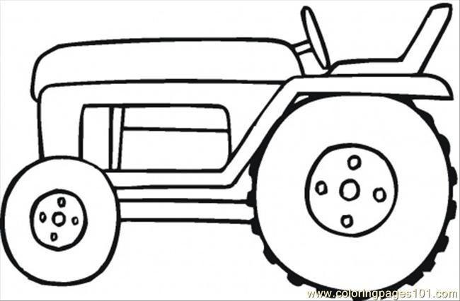 Harvester For The Field Coloring Page