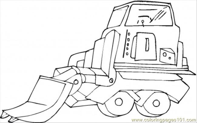 Huge Scoop Shovel Coloring Page
