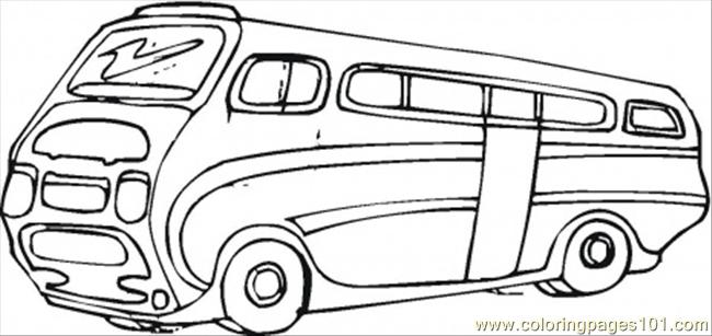 Modern Tourist Bus Coloring Page