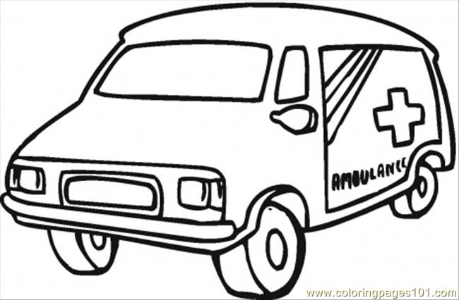 Old Ambulance Car Coloring Page