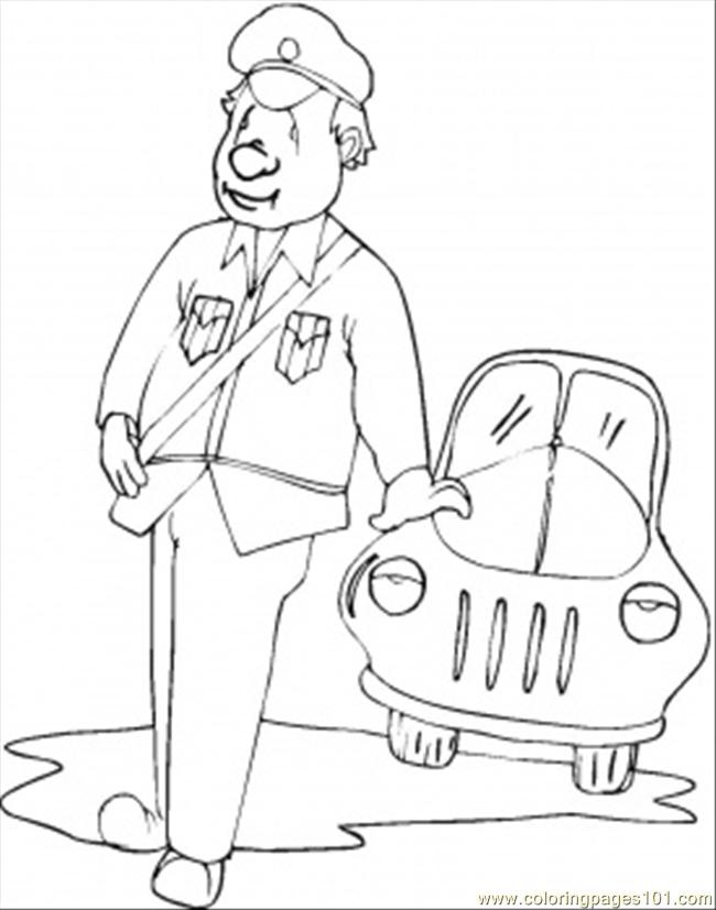 Policeman On Duty Coloring Page