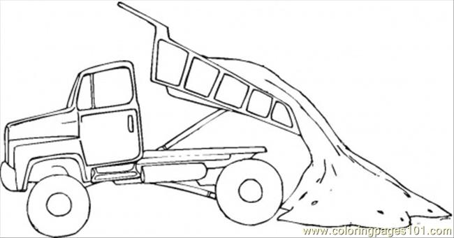 Tipper Truck Coloring Page Free