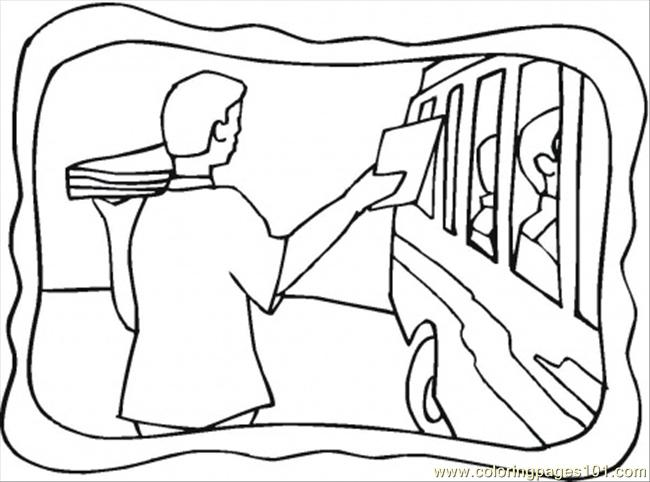 Tourist Bus Coloring Page