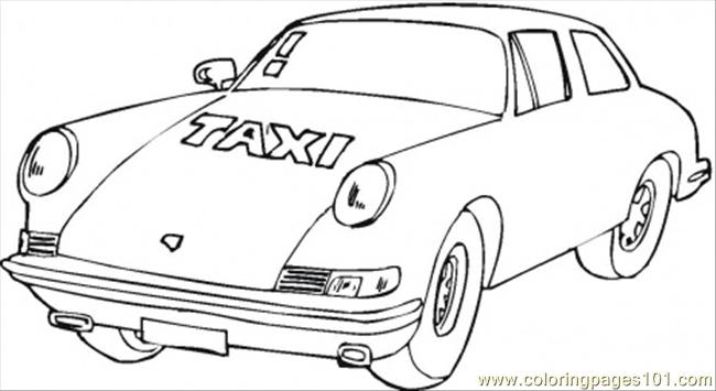 Vip Taxi Coloring Page