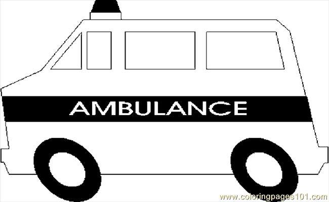 Ambulance 02 Coloring Page Free Special Transport