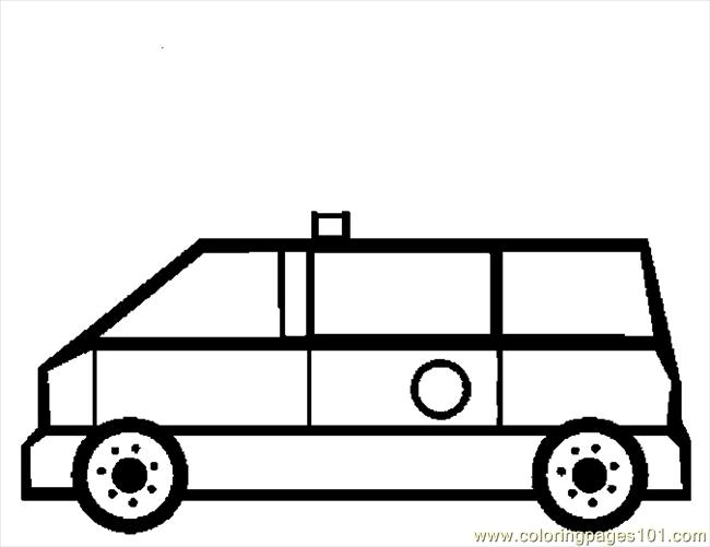 Ambulance 09 Coloring Page
