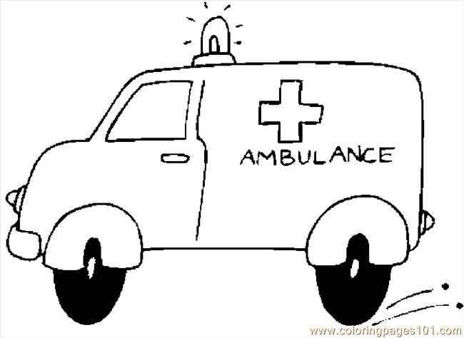 Ambulance 12 Coloring Page Free Special Transport