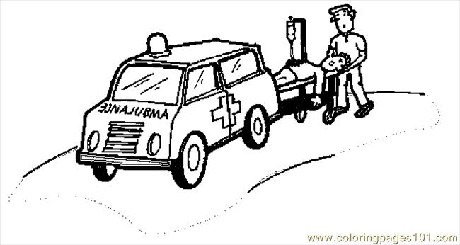 Ambulance 17 Coloring Page