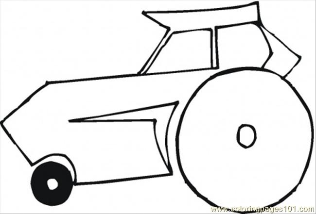 Self Propelled Roller Coloring Page